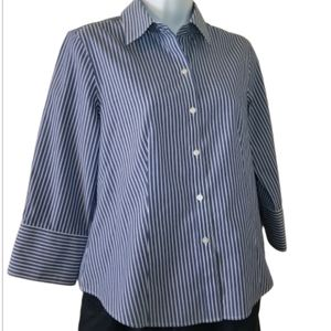 Nwt Talbot's striped button up top, sz 8p